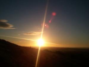 Východ slunce na Tóru