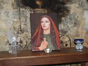 oltář v meditační místnosti u kaple M.M.