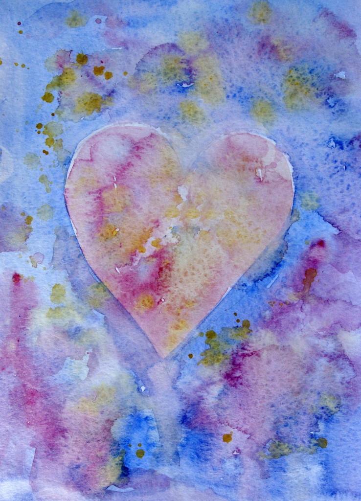 srdce rucne malovane