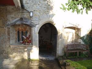 vchod do kapličky Máří Magdaleny v Glastonbury